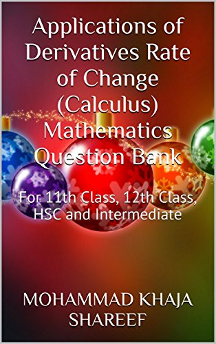 Applications of Derivatives Rate of Change (Calculus