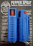 NEW! 2 POLICE MAGNUM MACE PEPPER SPRAY .50oz with BLUE MOLDED KEYCHAIN Self Defense
