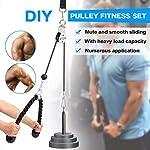 Jackallo-Fitness-Pulley-Cable-SystemPulley-System-Gym-Bicipite-Tricipite-Avambraccio-Polso-Trainer-Braccio-Twisted-Pull-Down-Cord-con-Maniglie-e-Perno-di-Caricamento-Bodybuilding-per-Workout