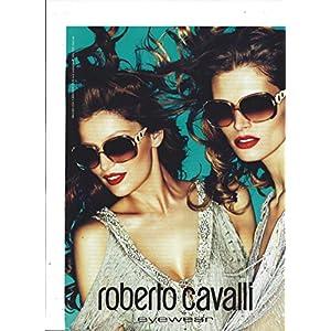 MAGAZINE AD For 2011 Roberto Cavalli Eyewear With Latetia Casta & Malgosia Bela