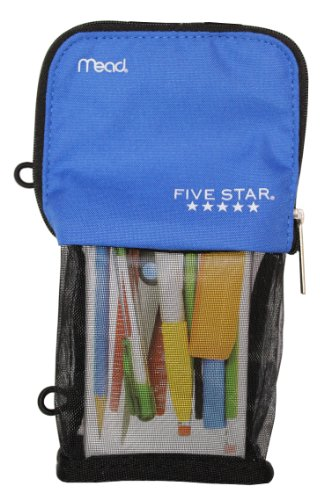 Mead Stand 'N Store Five Star Pencil Pouch | Blue