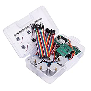 LAFVIN 5 sets 28BYJ-48 ULN2003 5V Stepper Motor + ULN2003 Driver Board for Arduino by LAFVIN