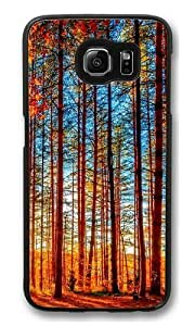 Autumn Forest Painting PC Case Cover for Samsung S6 and Samsung Galaxy S6 Black