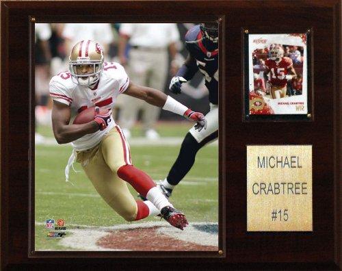 Michael Crabtree Football - NFL Michael Crabtree San Francisco 49ers Player Plaque
