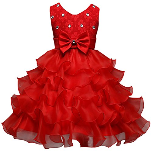Csbks Girls Wedding Party Dress Pageant Baby Ruffles Tulle Princess Dresses 2T -