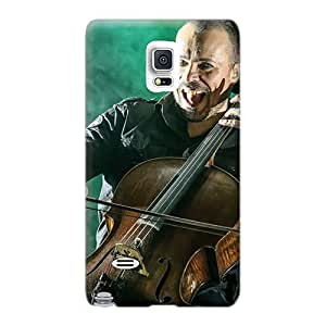 Scratch Resistant Cell-phone Hard Covers For Samsung Galaxy Note 4 With Customized Beautiful Apocalyptica Band Pattern LauraFuchs