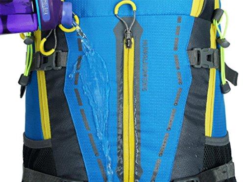 LQABW Moda Deportes 45L Litros Profesional Alpinismo Impermeable Y Transpirable Hombro Al Aire Libre De Los Hombres Y De Las Mujeres Bolsa Mochila,Orange Orange