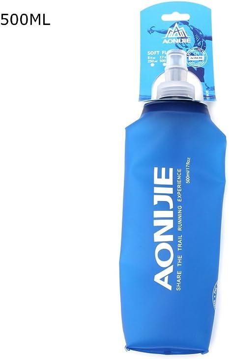 AONIJIE TPU 250//500ML Folding Soft Flask Sports Running Hiking Water Bottle Bag