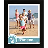 craig frames 1wb3bk 17 by 22 inch pictureposter frame smooth finish 1 inch wide matte black