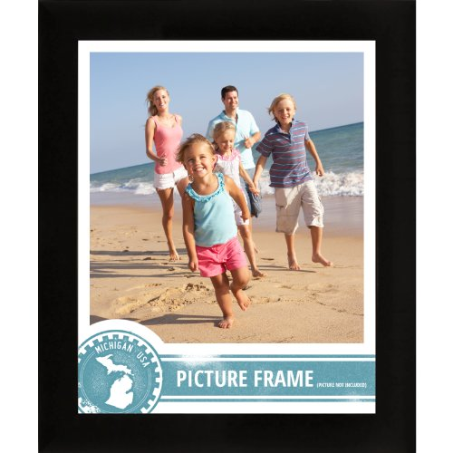 Craig Frames 1WB3BK 24 by 36-Inch Picture Frame, Smooth Wrap Finish, 1-Inch Wide, Black