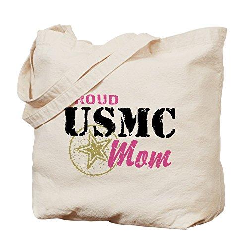 CafePress–Stolz USMC Mom–Leinwand Natur Tasche, Reinigungstuch Einkaufstasche
