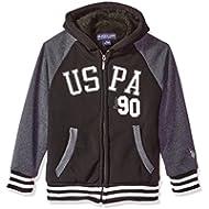 [Sponsored]U.S. Polo Assn. Boys' Sherpa Lined Fleece Hoodie