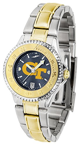 Georgia Tech Yellow Jackets Competitor Two-Tone AnoChrome Women's Watch