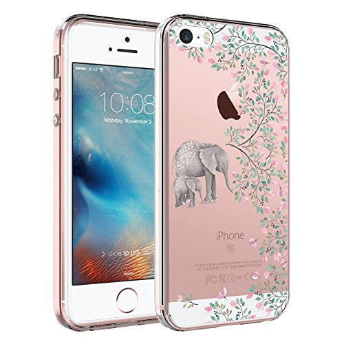 iPhone SE Case, iPhone 5S Case, iPhone 5 Case, SYONER [Scratch Resistant] Ultra Slim Clear Phone Case Cover for Apple iPhone 5 / 5S / SE [Elephant]