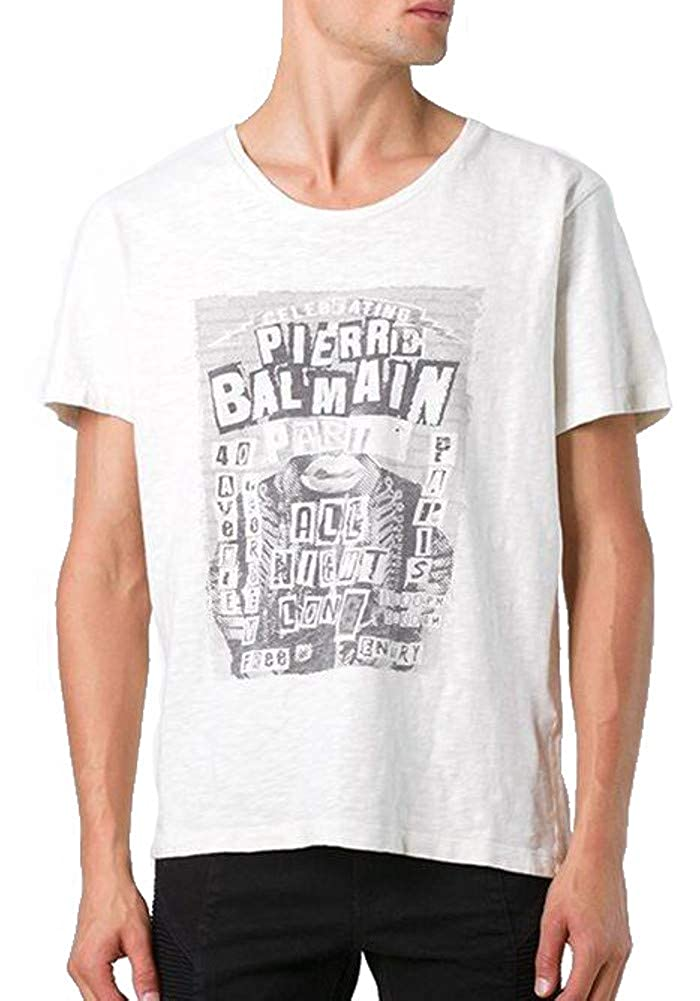 0539f53c Pierre Balmain Rock Concert Logo Graphic Tee, Off White ($295) (56 (2XL)) |  Amazon.com