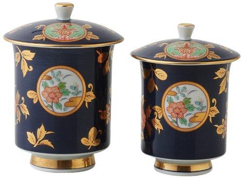 Old Imari Kinsai 3.3inch Set of 2 Japanese Teacups White Porcelain by Watou.asia