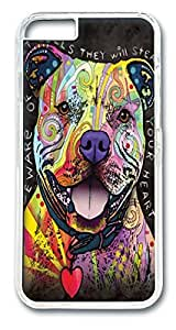 Beware of Pit Bulls Polycarbonate Hard Case Cover for iphone 6 plus 5.5inch Transparent
