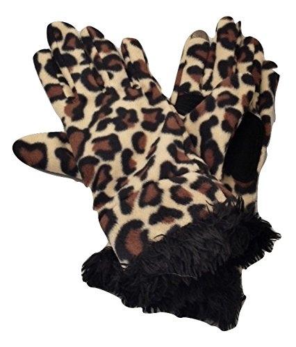 Women Teen Classic Winter Warm Fur Fashion Soft Fleece Hands Wrist Gloves Women's Leopard Print Smart Touch Gloves for Texting & TouchscreensTech Touch (Sexy Female Cartoon Characters)
