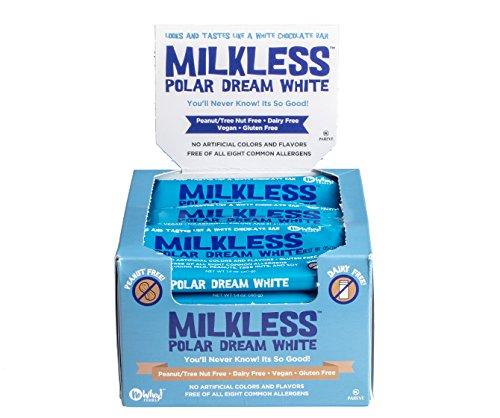 No Whey Milkless Polar Dream White Chocolate Bars (20 pack) - Gluten Free, Nut Free, Milk Free, Vegan ()