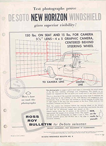 Around Windshield (1955 DeSoto Windshield vs GM Wrap Around Windshield Salesman's Brochure)