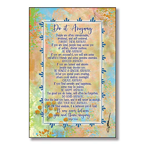 Do it Anyway Wood Plaque Inspiring Quotes 6