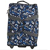 CALPAK Rover Blue Bird 20-inch Washable Rolling Carry-On Upright Duffel Bag