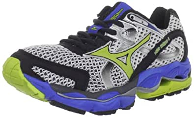 Mizuno Men's Wave Enigma 2 Running Shoe,White/Lichen/Strong Blue,12.5 D US
