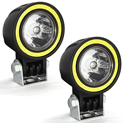 automotive, lights & lighting accessories, accent & off road lighting,  light bars  picture, Motorcycle LED Fog Lights,20W Driving Spot Lights Round Cree LED Offroad Motorcycle Bike Lights with Halo Ring for Truck Car ATV Jeep promotion2