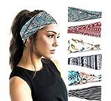 PLOVZ 6 Pack Women's Yoga Running Headbands