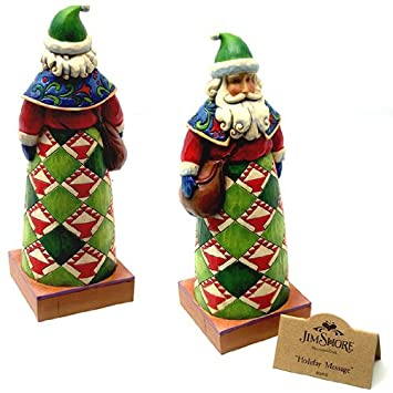 Jim Shore – Heartwood Creek – Holiday Message Santa with Bag Figurine by Enesco – 4010847