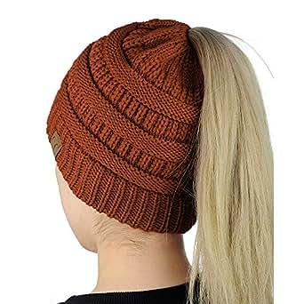 Easy-W Rust Lady Knit Crochet Skull Caps Women BeanieTail