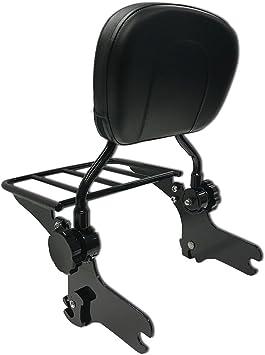 BBUT Chrome Backrest Sissy Bar With Luggage Rack For Harley Touring FLHR FLHX FLTR FLHT 1997 1998 1999 2000 2001 2002 2003 2004 2005 2006 2007 2008