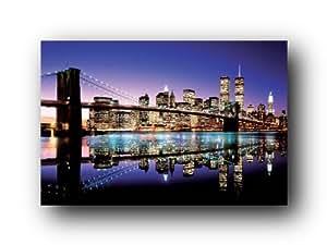 Color Brooklyn Bridge Poster Art Print