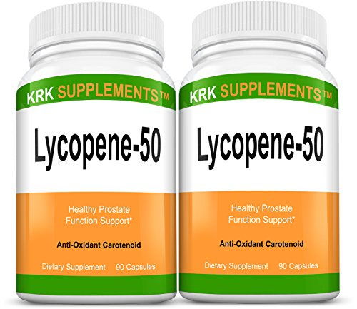 2 Bottles Lycopene 50mg 180 Total Capsules KRK Supplements