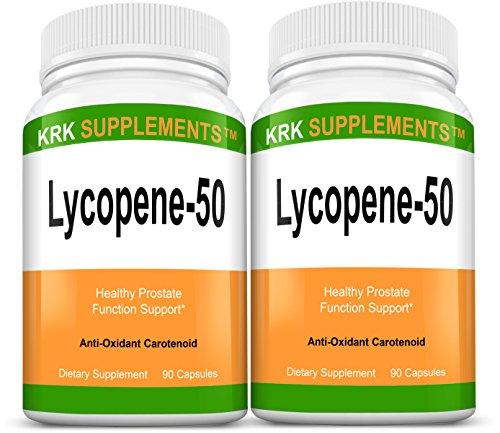 2 bouteilles Lycopène 50mg 180 Capsules total KRK suppléments