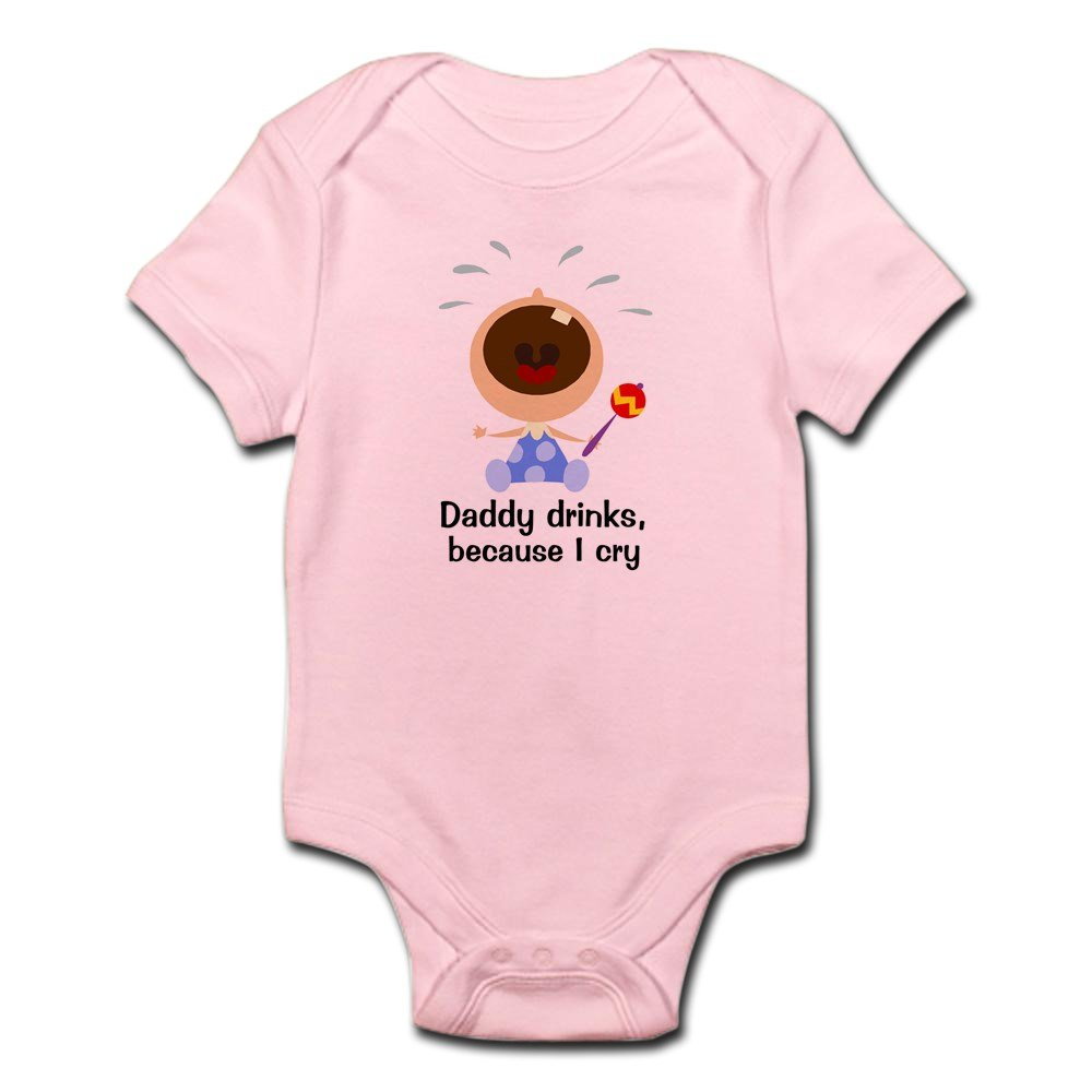 CafePress - Daddy Drinks... - Cute Infant Bodysuit Baby Romper