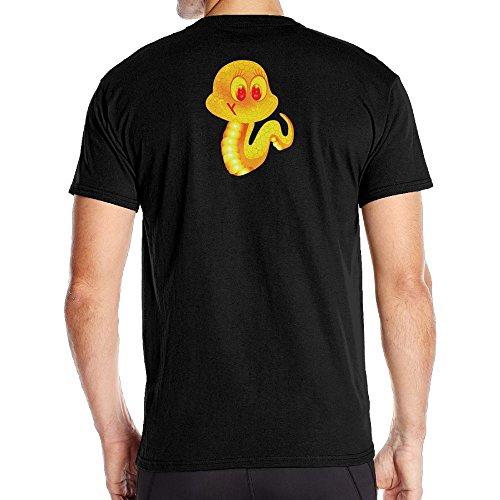 Men Fire Snake Particular Tshirt Black Size - Mark Boots Jacobs