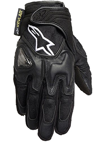 Alpinestars Scheme Kevlar Textile Gloves , Distinct Name: Black, Gender: Mens/Unisex, Primary Color: Black, Size: XL, Apparel Material: Textile 3502612-10-XL Alpinestars Scheme Kevlar Gloves