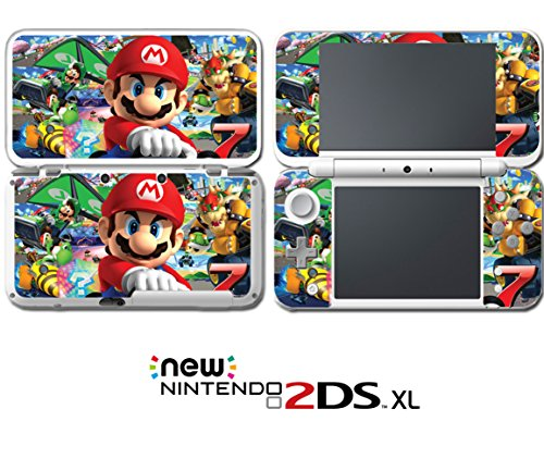 Mario Kart 7 Luigi Peach Yoshi Bowser Video Game Vinyl Decal Skin Sticker Cover for Nintendo New 2DS XL System Console