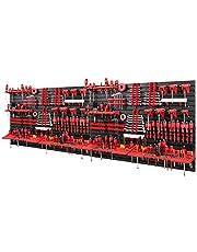 Gereedschapswand -2304 x 780 mm - set 116 gereedschapshouders met gatenwand opslagsysteem gatenwand wandrek werkplaatsrek