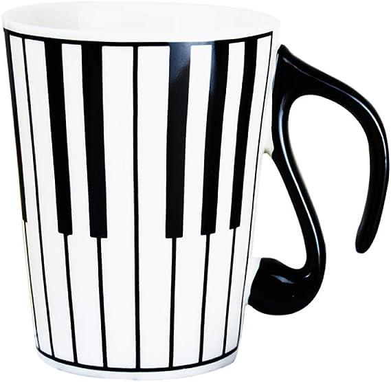 XTSHOP Mugs e Creative Ceramic Mug Coffee Cup Piano Musical