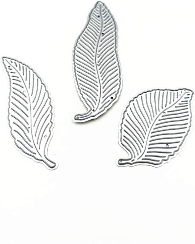 7.1cm Three leaves Cutting Dies for Card Making feilin Paper Card Craft Embossing Metal Cutting Dies Stencils DIY Scrapbooking Embossing Making Stencil 7.9