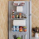 Refrigerator Side By Side Vencer Refrigerator Side Storage Rack for Kitchen Storage Wrap Rack Organizer,VFR-001