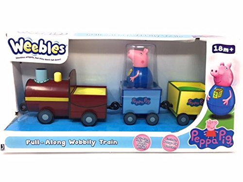 Peppa Pig Weebles Pull Along Wobbily Train Toy