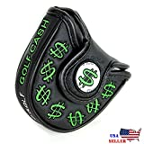 Cash Money Black MALLET Putter Cover Headcover For Scotty Cameron Taylormade Odyssey 2ball