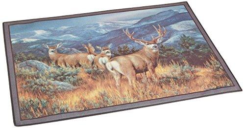 Custom Printed Rugs Wildlife Last Glance Mule Deer Novelty Rug