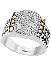 rings white faceted ring sapphire s designer diamond from women lyst pave shop effy gold