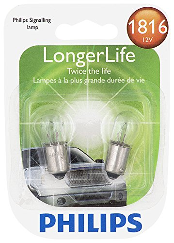 Philips 1816 LongerLife Miniature Bulb, 2 Pack