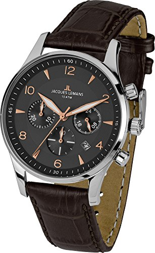Lemans Watches Men Jacques - Jacques Lemans London Mens Chronograph Classic & Simple