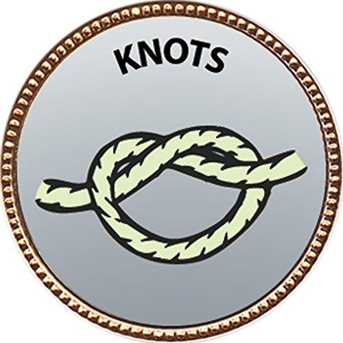 Gold Badge Awards - Knots Award, 1 inch dia Gold Pin